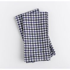 Celina Mancurti Gingham- Blue Linen Napkins Set. Be comfortable with the natural look of linen and embrace the little wrinkles.