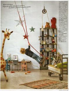 Swing in a bed/ playroom. my kids will be in the ER constantly. hope david gets . Swing in a bed/ playroom. my kids will. Kids Corner, Casa Kids, Ideas Habitaciones, Deco Kids, Deco Originale, Kid Spaces, Boy Room, Child's Room, Kids Decor