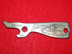 Antique Bottle Opener GAY-OLA Cola 1912 Dated Metal Collectible Boot Shape RARE