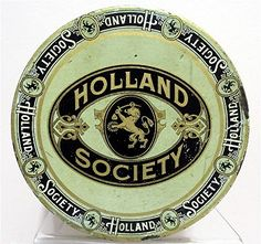 Holland Society Cigar Tin | Top of Lid | Cigars made by B. Feifer & Co