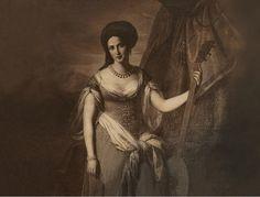 "A portrait of Cuban born Countess Mercedes Santa Cruz y Montalvo, known as la ""Belle Créole,"" a Cuban-born star of 19th century Parisian society who became Cuba's first published female author."