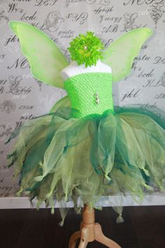 Princess Fairy Woodland / tinker bell with wings Tutu