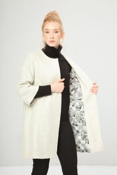 FONTANA 2.0 - KABAN 59.90€ Cappotto donna monopetto Chiusura con bottoni  metallici automatici nascosti aa15b2983d2