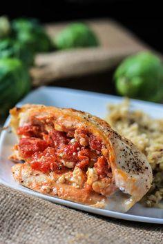 Tomato and Feta stuffed Chicken Breasts