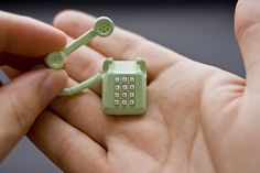 Tiny telephone.