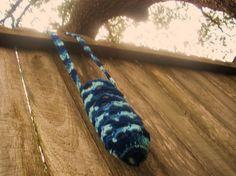 Shades of Blue Water Bottle Holder by Ravy17CrochetDesign on Etsy, $11.95