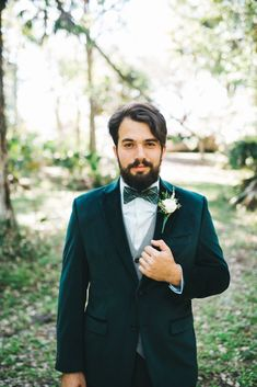 Epic Forest Food Truck Wedding (With The Sweetest Father Daughter Moment) Green Wedding Suit, Wedding Suits, Father Of The Bride, Father Daughter, Green Tuxedo, Food Truck Wedding, Bride Suit, Emerald Green Weddings, Wedding Bands For Him