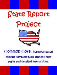 State reports are classically assigned as a rite of 5th grade. This 29 page unit, by The Teacher Next Door is aligned with the Common Core, and will help you guide your students to create meaningful, well researched reports. The unit includes students directions, writing pages, a rubric, and more! $