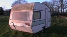 caravan was originally 2 berth would now make great trailer/box trailer project   oh why oh why poor caravan x