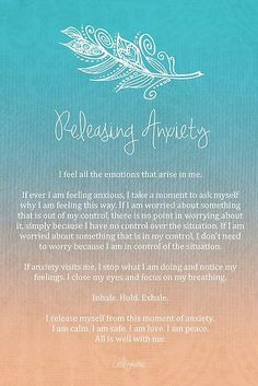 Affirmation - Releasing Anxiety by CarlyMarie: