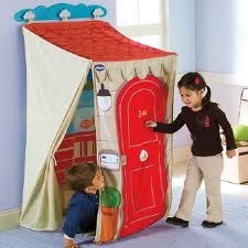 Trying to figure out how to DIY this wall mounted collapsible play house. Comment with ideas if you have any. Retractable Baby Gate, Table Tents, Baby Gates, Montgomery Ward, Kids Decor, Beautiful Children, Play Houses, Summer Fun, Toy Chest