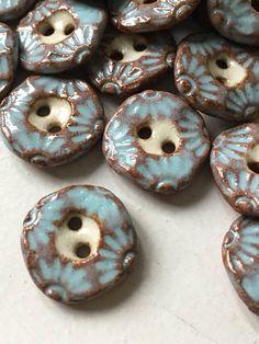 pale blue ceramic buttons