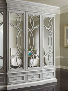 Shop for Habersham Plantation Corporation East Hampton Display/Media Cabinet With Mirrored Doors, and other Home Entertainment Entertainment Centers Shipping Boxes: Finish Placement: Top - Bottom-Interior-Trim. Bedroom Wardrobe, Wardrobe Doors, Built In Wardrobe, Wardrobe Design, Closet Doors, Bedroom Wall, Bedroom Decor, Mirror Cabinets, Cabinet Doors