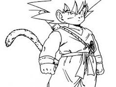 Cool manga Dragon ball Z coloring pages for kids printable free