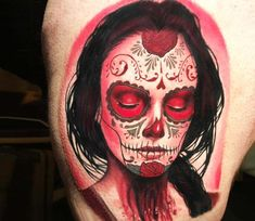 Muerte tattoo by Evan Olin