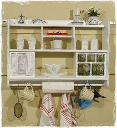 Wandregale - Küchenregal, Wandregal, Schüttenregal, Shabby chic - ein Designerstück von Ansolece bei DaWanda