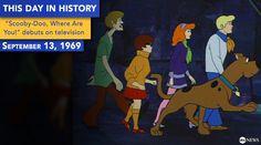 Sept. 13, 1969: TV premiere of Scooby Doo cartoon show.