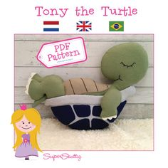 PDF Pattern Tony the Turtle by SuperSkattig felt by SuperSkattig