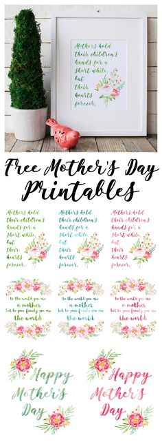 Beautiful Peony Watercolour Free Mother's Day Printables - The Happy Housie