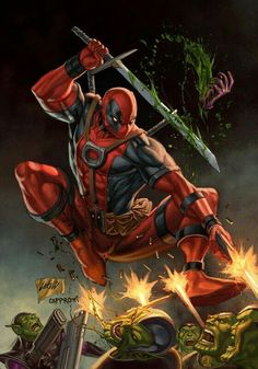 The design my Deadpool tattoo is based off of