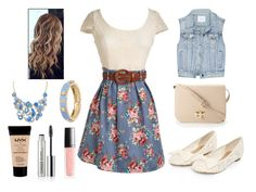 """""""Summer time"""" by b-maya ❤ liked on Polyvore featuring Talula, Forever 21, Aqua, Henri Bendel, Clinique and NYX"""