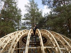 Hut House, Gnome House, Arched Cabin, Dome Structure, Oak Framed Buildings, Geodesic Dome Homes, Timber Roof, Wood Shop Projects, Round House