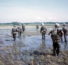 Vietnam War...patrolling the rice paddies.
