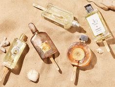 #still life #beauty #cosmetic #fragrance #perfume #photography #beach #sun…