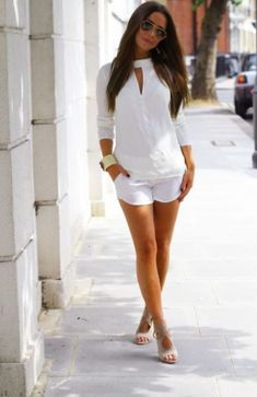 Summer Outfit Ideas White Two Paice Set