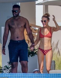 Happy together: Chrishell Stause was glowing while on vacation in Mexico with her new guy Keo Motsepe