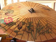 Image detail for -Japanese Parasol of Rice Paper by TheSageScottie on Etsy