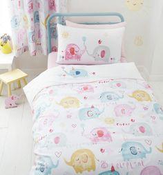 GIRLS ELEPHANT COT BED DUVET COVER ~ COTBED/TODDLER/JUNIOR ~ GIRLS BEDDING in Home, Furniture & DIY, Children's Home & Furniture, Bedding | eBay
