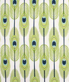 Premier Prints Feathers Canal Slub Fabric - $10.98   onlinefabricstore.net