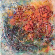 Original Abstract Artwork. Encaustic Painting. Titled My Beloved by Rebecca Stahr Artist