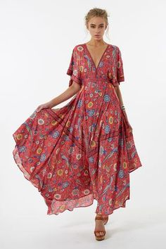 2017 Vestido Long Flower Dress Vintage Bohemian Maxi Dress Sexy Ethnic Deep V-neck Floral Print Beach Dresses Casual Boho Robe Sexy Maxi Dress, The Dress, Sexy Dresses, Long Dresses, Beach Dresses, Dress Casual, Vacation Dresses, Cotton Dresses, Boho Vintage