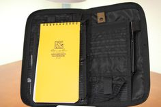Maratac Extreme Tacfolio, Rite in the Rain Reporter's Notebook, Tombow Onbook Ballpoint pen.