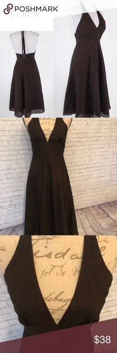 NWT J. Crew brown seersucker halter dress, size 0 NWT J. Crew brown seersucker halter dress, size 0.    I 💝 offers! J. Crew Dresses