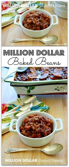 Million Dollar Baked Beans - chock full of bacon (and who doesn't like bacon?), these beans are sticky and delicious!  | Toot Sweet 4 Two