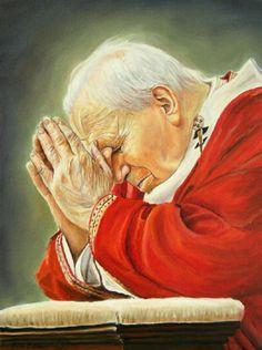 Saint Jean Paul Ii, Pope John Paul Ii, Paul 2, Saint John, Catholic Religion, Catholic Art, Roman Catholic, Pope Of Rome, Divine Mercy Chaplet