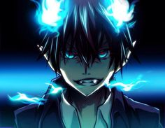 Anime Blue Exorcist  Rin Okumura Ao No Exorcist Papel de Parede