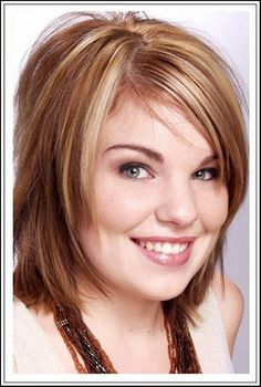 Short Hairstyles For Fat Faces And Double Chins 15