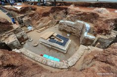 Archaeologists have started a salvage excavation of the tumulus since August 2012, after it was accidentally discovered at a local construction site.