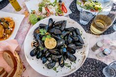 Mussels are just one of the seafood specialties on a trip to the Albanian Riviera