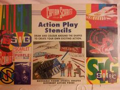 Sealed and unopened 1990's Captain Scarlet Action Play Stensils set.. If anyone is interested in purchasing this retro toy then please let me know...£30 ono....
