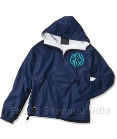 Pull Over Windbreaker Jacket with monogram  fully lined with