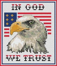 In God We Trust cross stitch pattern