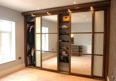 Modern Closet Doors Shaker Style New Ideas Fitted Wardrobe Doors, Modern Closet Doors, Mirror Closet Doors, Sliding Wardrobe Doors, Mirrored Wardrobe, Sliding Doors, Barn Doors, Fitted Wardrobes, Closet Door Hardware