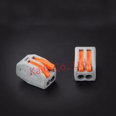 (10 unids/lote) WAGO 222-412 (PCT212) Compacto Universal Cable Conector de Cableado de 2 pin Terminal Del Conductor bloque Con Palanca 0.08-2.5mm2