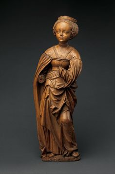 Saint Barbara | German | The Metropolitan Museum of Art Graven Images, Saint Barbara, Oriental, Christian Symbols, National Gallery Of Art, Medieval Art, How To Antique Wood, Religious Art, Wood Sculpture