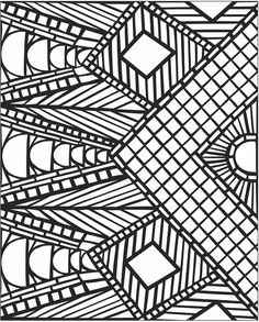 3d mosaic coloring page #free #printable #diy #craft